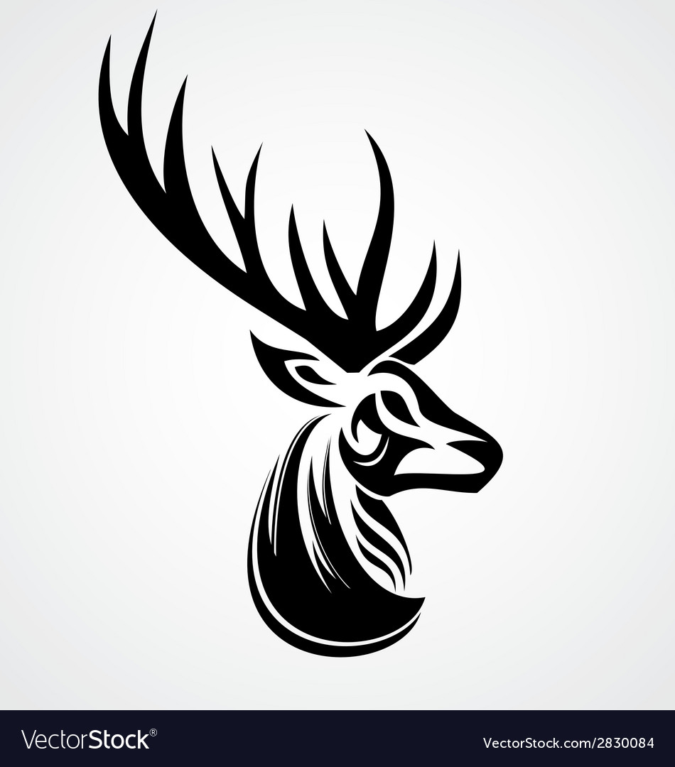 deer tattoo design royalty free vector image vectorstock