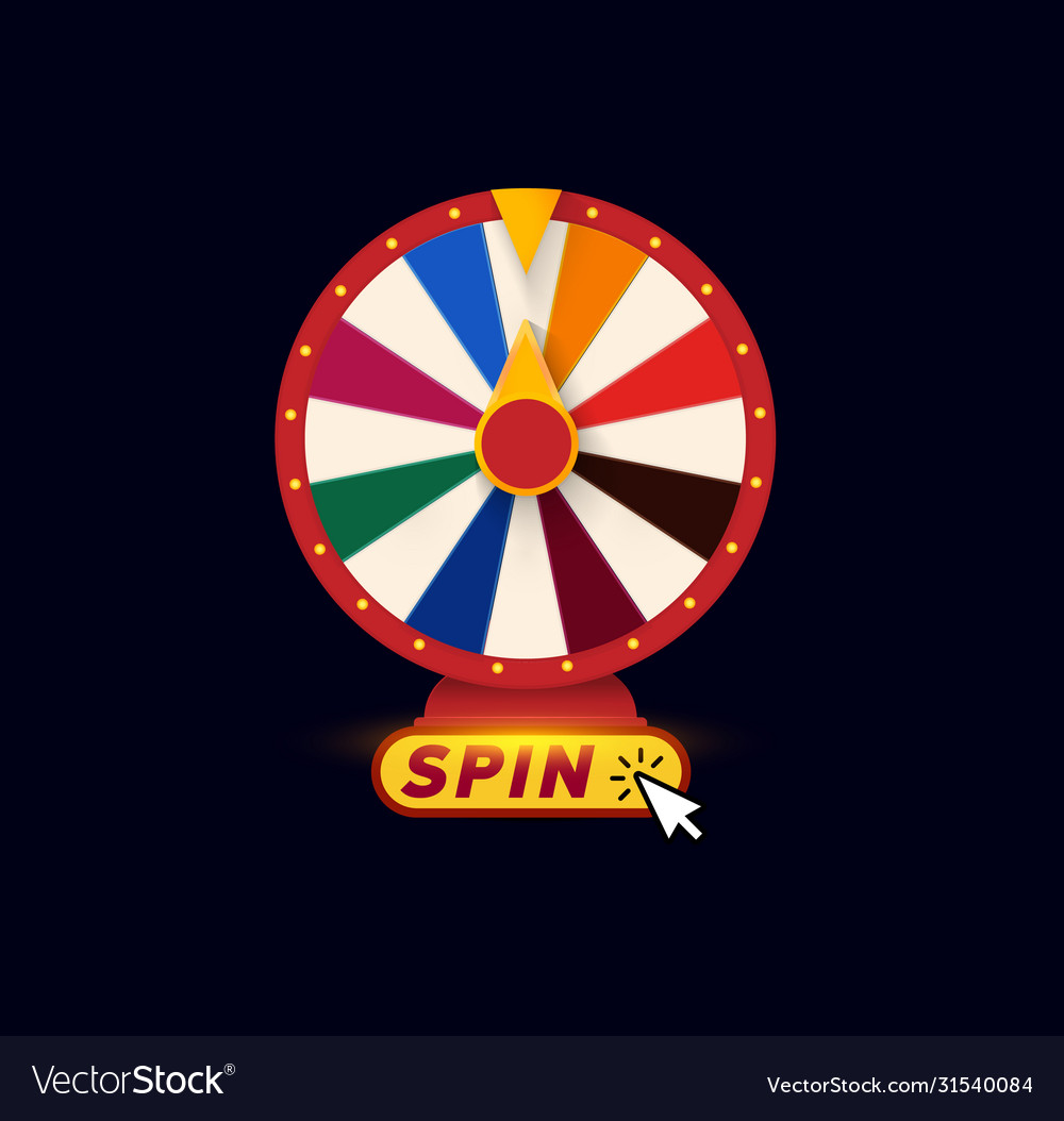 Isolated lucky chance roulette symbol