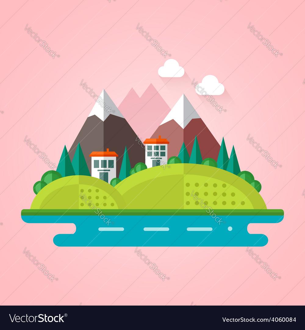 Landscape flat icon