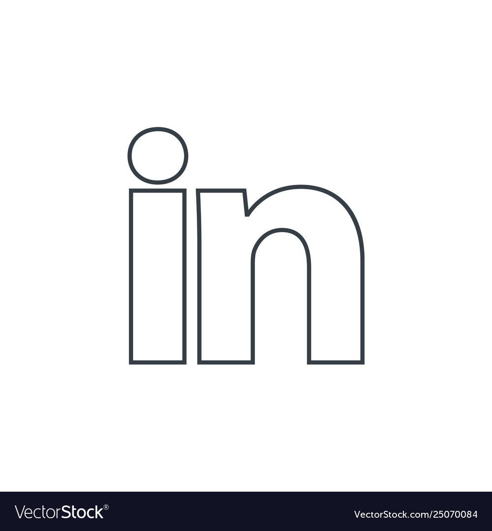 Linkedin Logo Icon Social Media Symbol