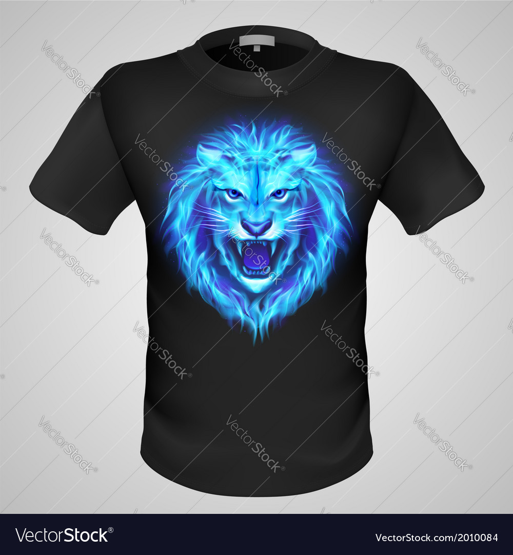Male tshirt with lion print