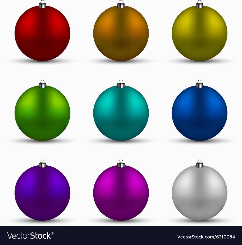 Colorful Christmas Balls.Modern Colorful Christmas Balls Set