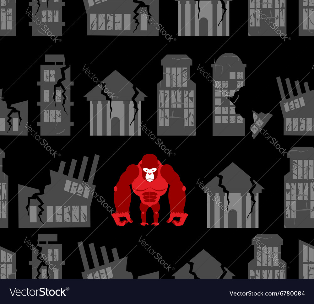 Monkey destroyer in town Angry Gorilla broke homes