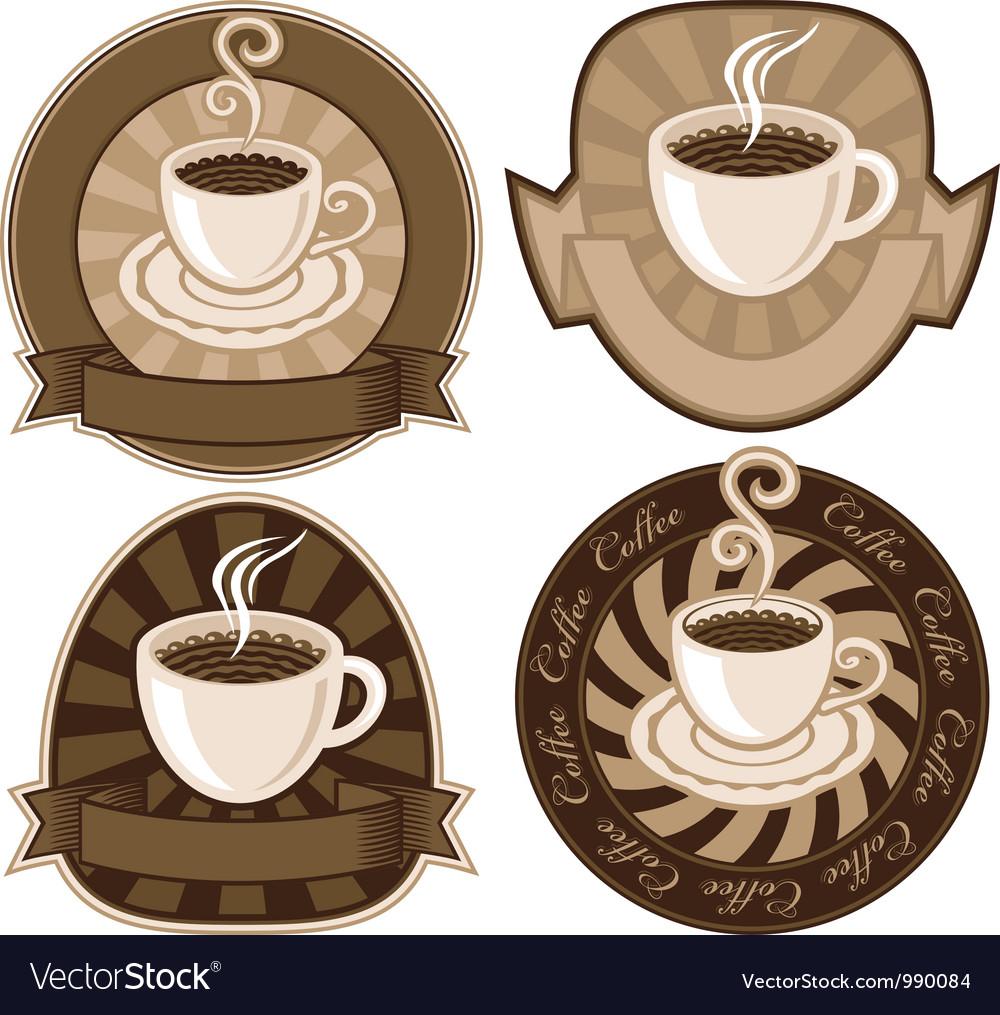Tea or coffee vector image