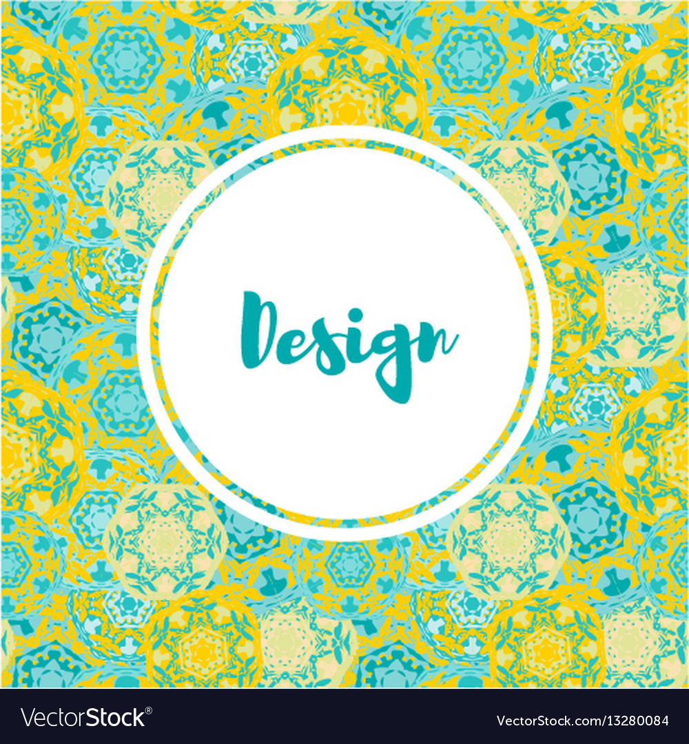 Templates banners set floral mandala pattern and