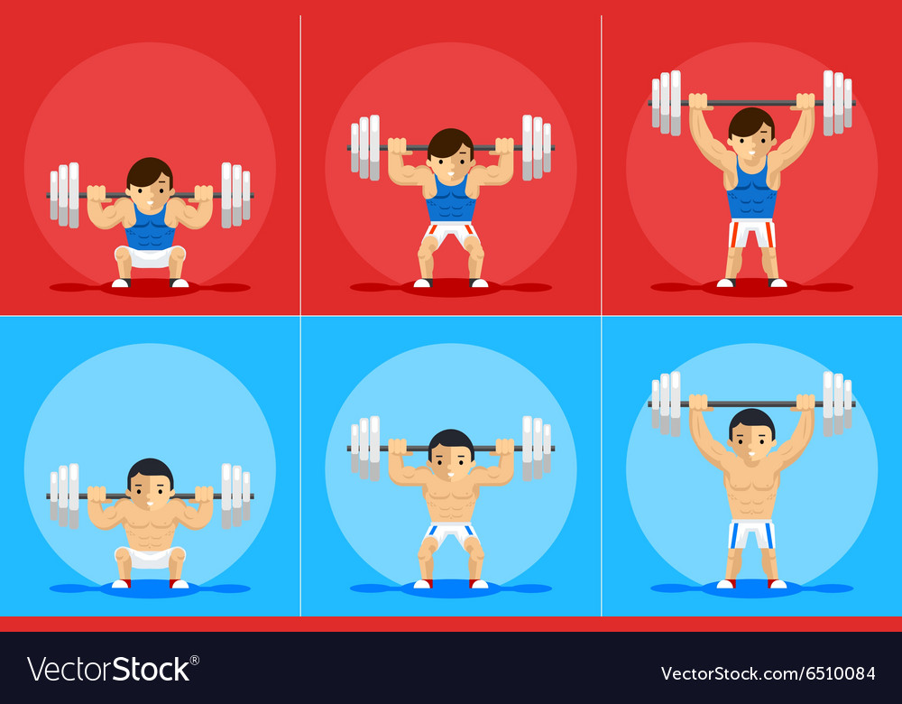 Weightlifting animation frames