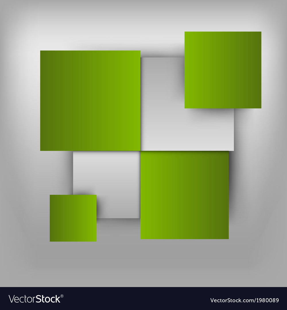 Business squares light green
