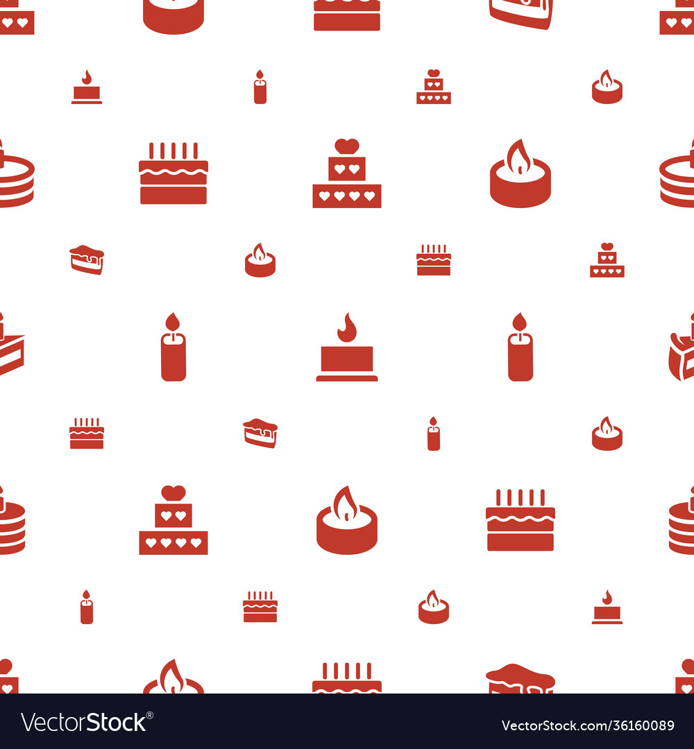 Candle icons pattern seamless white background