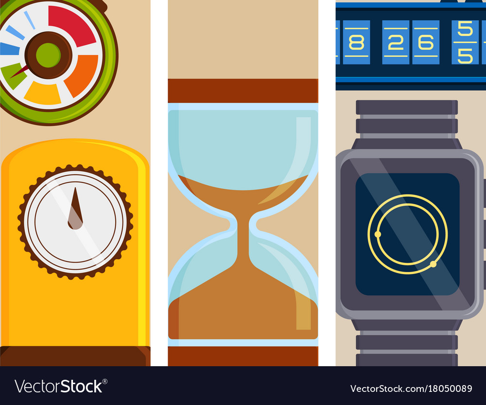 Clock and watches flayer timer colorful