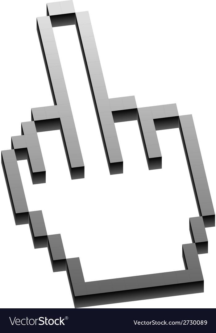 Flat finger up icons set