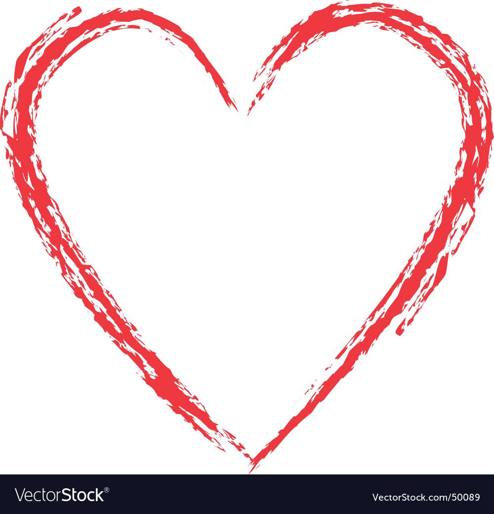 grunge heart royalty free vector image vectorstock rh vectorstock com grunge heart vector free grunge heat transfer vinyl