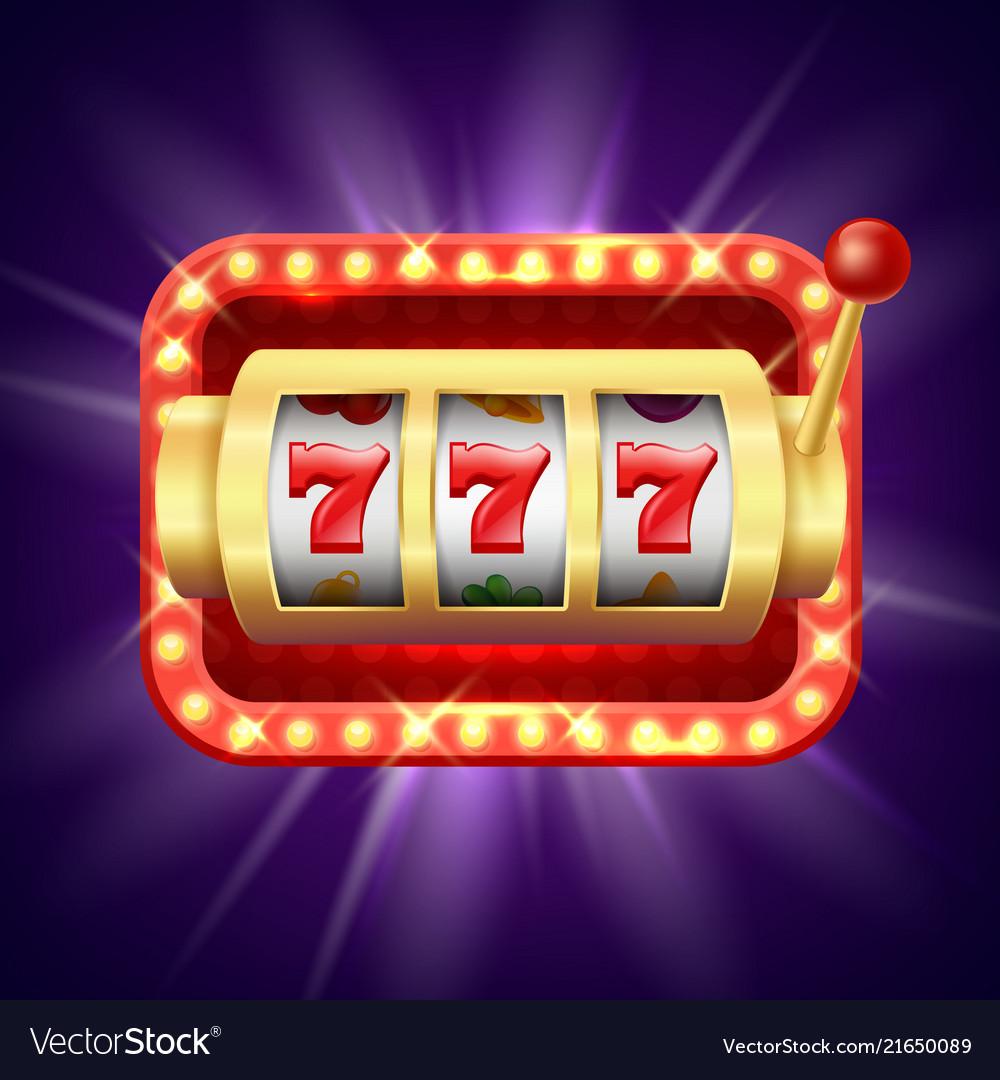 Jackpot at slot machine realistic