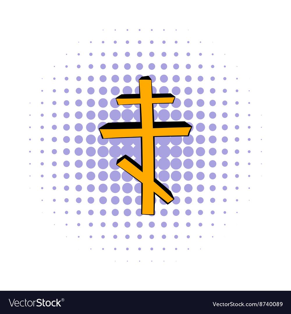 Orthodox cross icon comics style