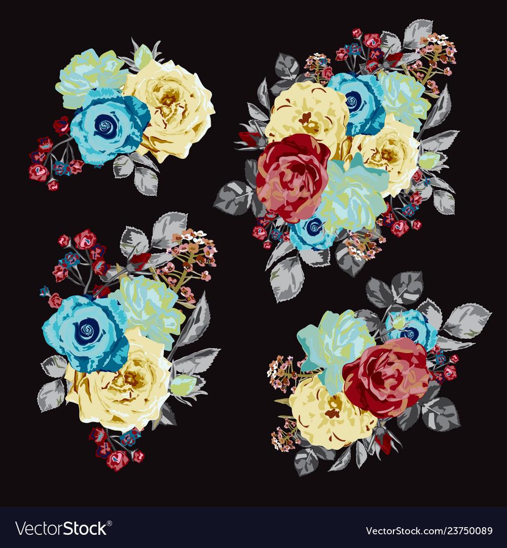 Roses floral bouquet