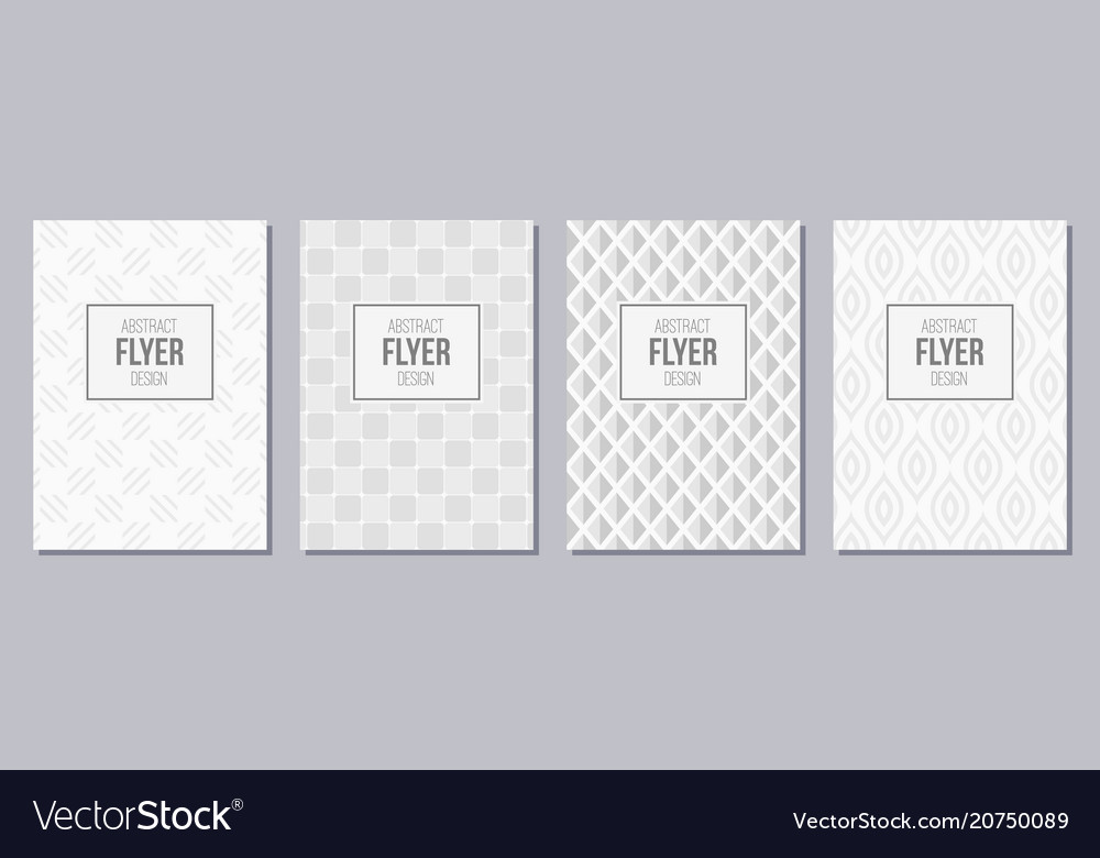 Set of flyer posters banners placards brochure