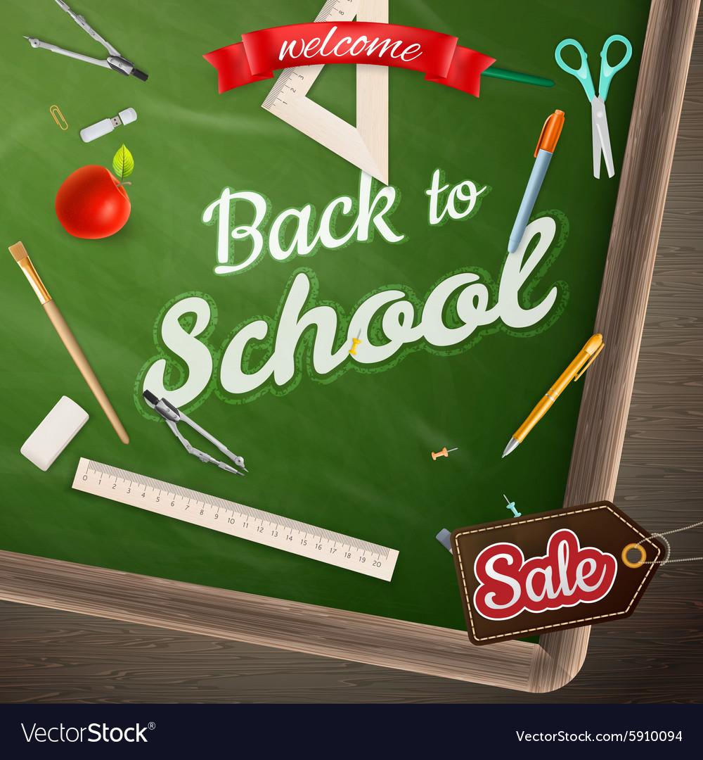 Back to School marketing background EPS 10
