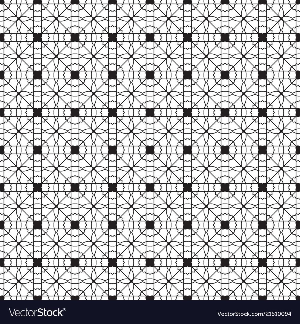 Black and white monochrome geometric pattern