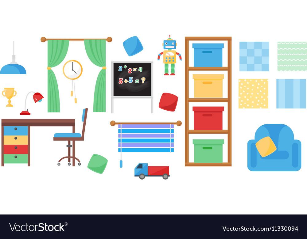 Boy baby room set