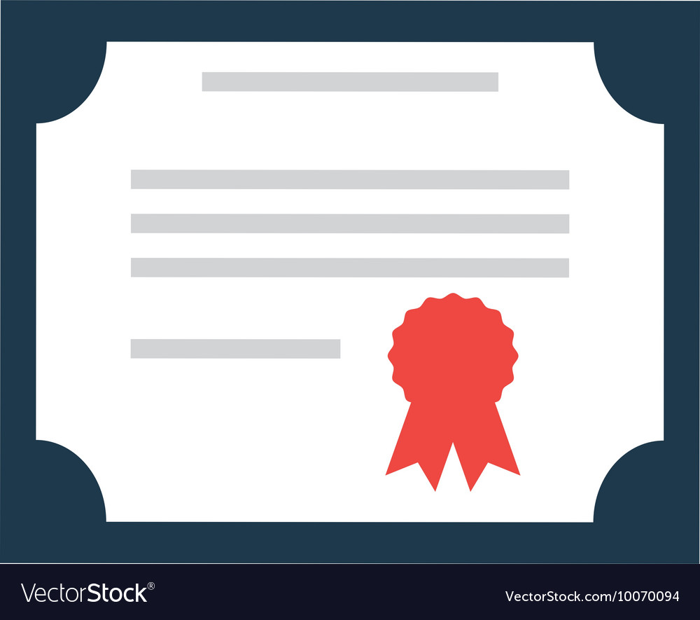 diploma certificate paper icon royalty free vector image