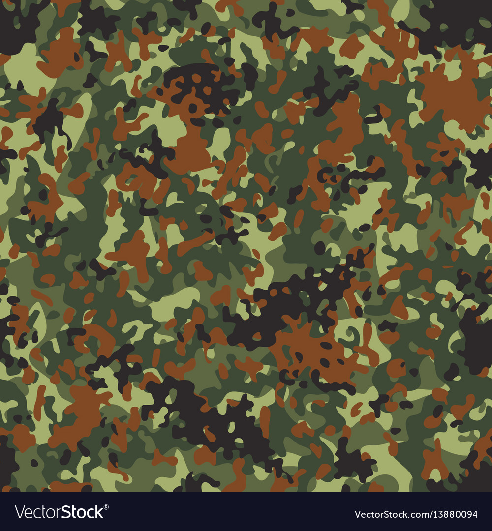 Flectarn camouflage seamless patterns vector image
