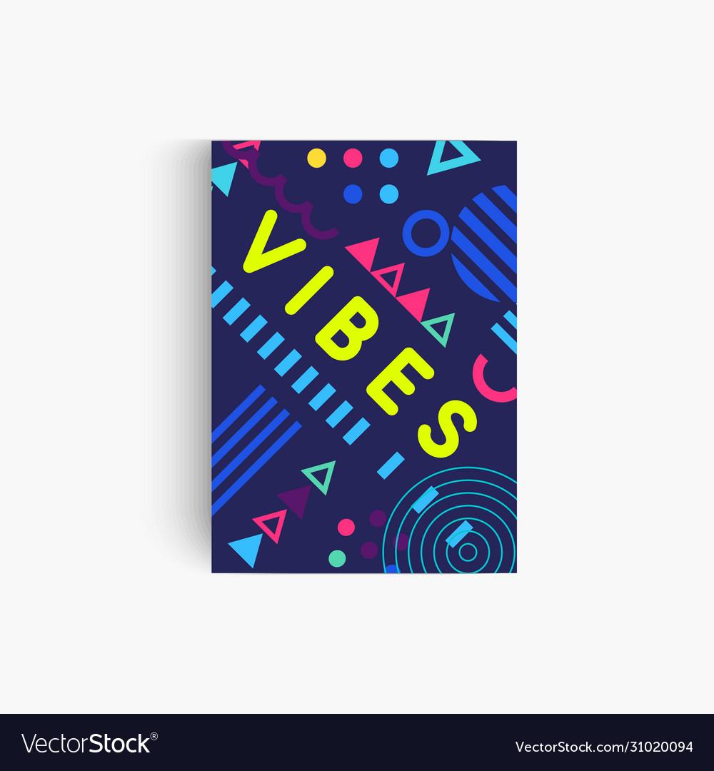 Good vibes poster template art creative pattern