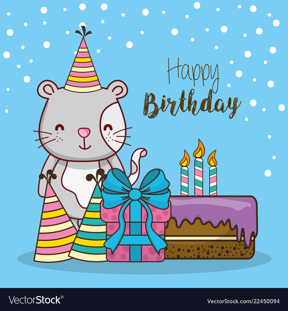 Happy Birthday Card Cartoons Royalty Free Vector Image