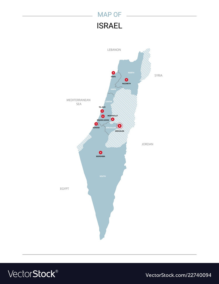 Israel map with red pin
