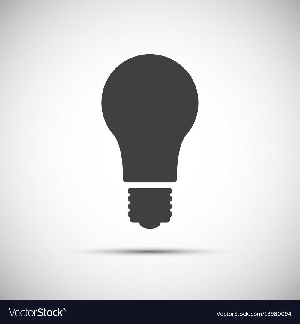 Light bulb icon isolated on white background vector image