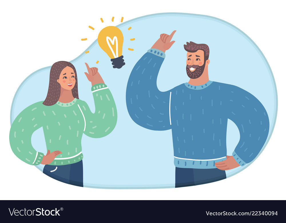 Man and woman having a conversation i