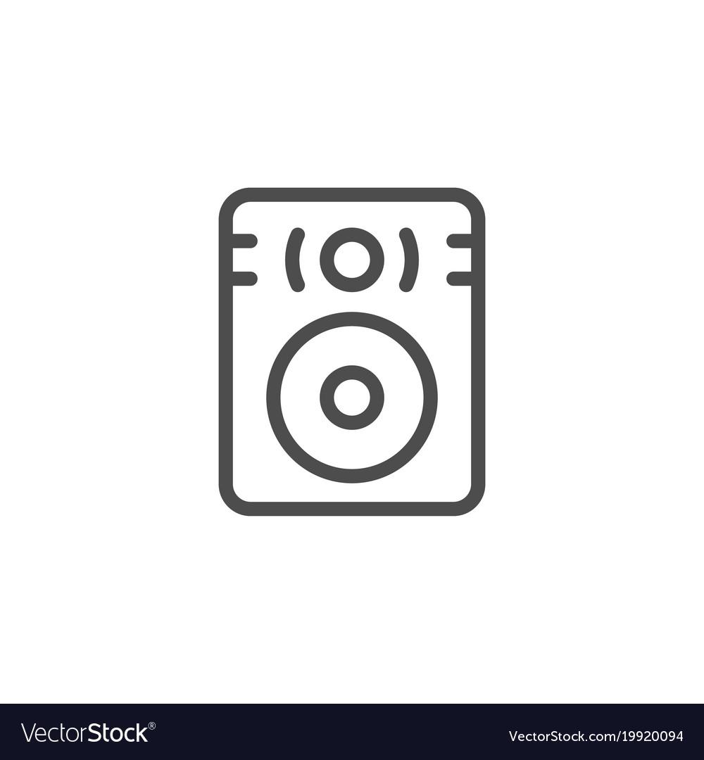Speaker line icon