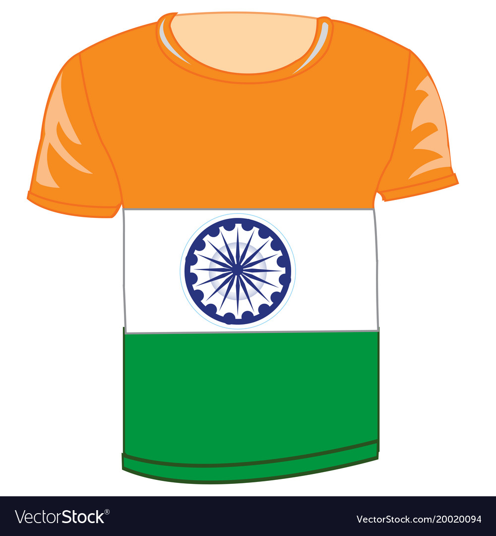452a590bd T-shirt flag to india Royalty Free Vector Image