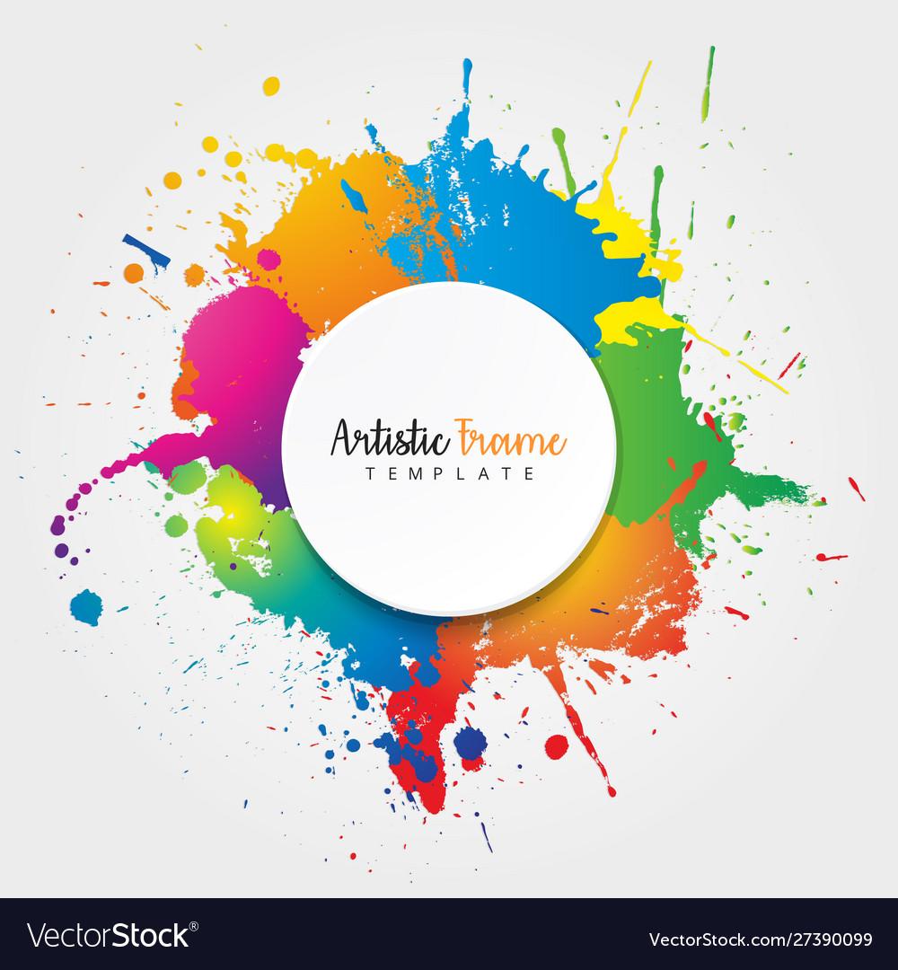 Artistic frame banner colorful design