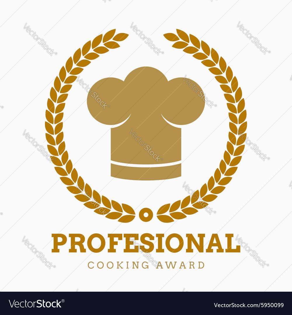 Award cook chef hat restaurant icon button set