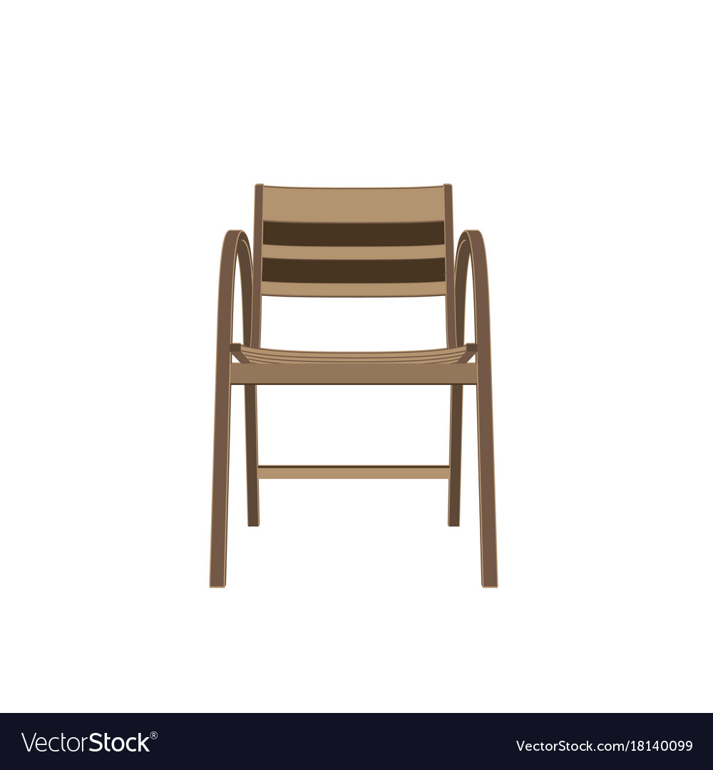 Chair wooden isolated furniture vintage design