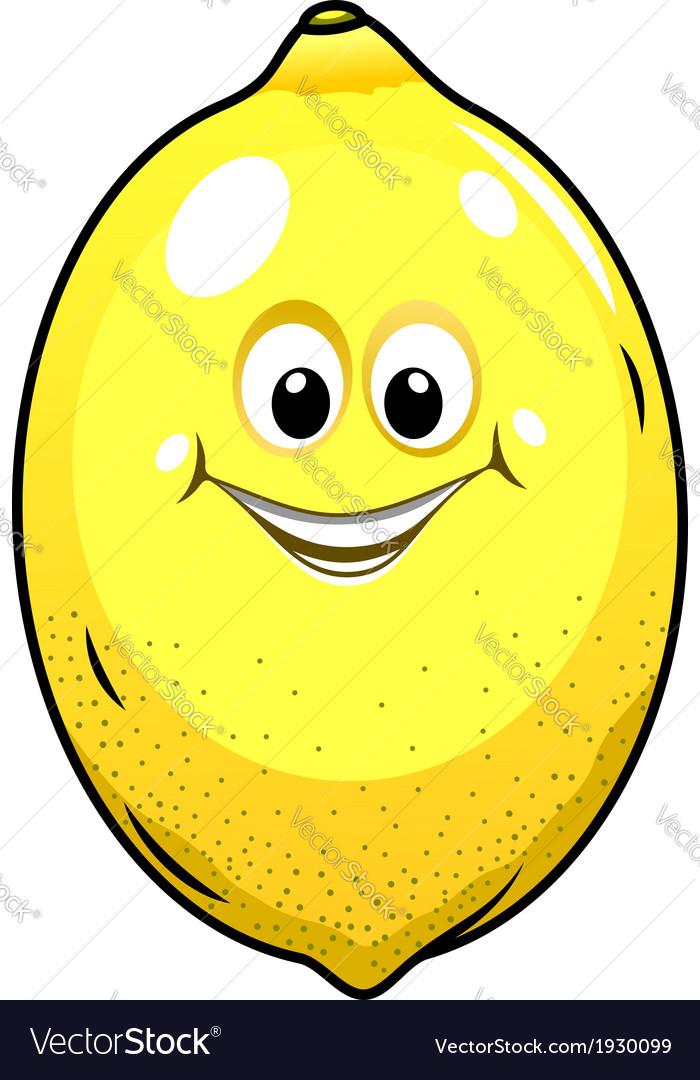 Cute little lemon with a happy grin