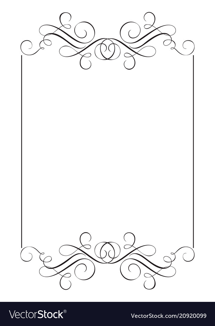 Decorative frames and border standard rectangle Vector Image
