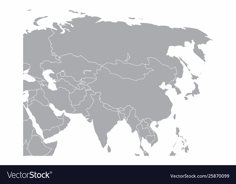 Gray asia map