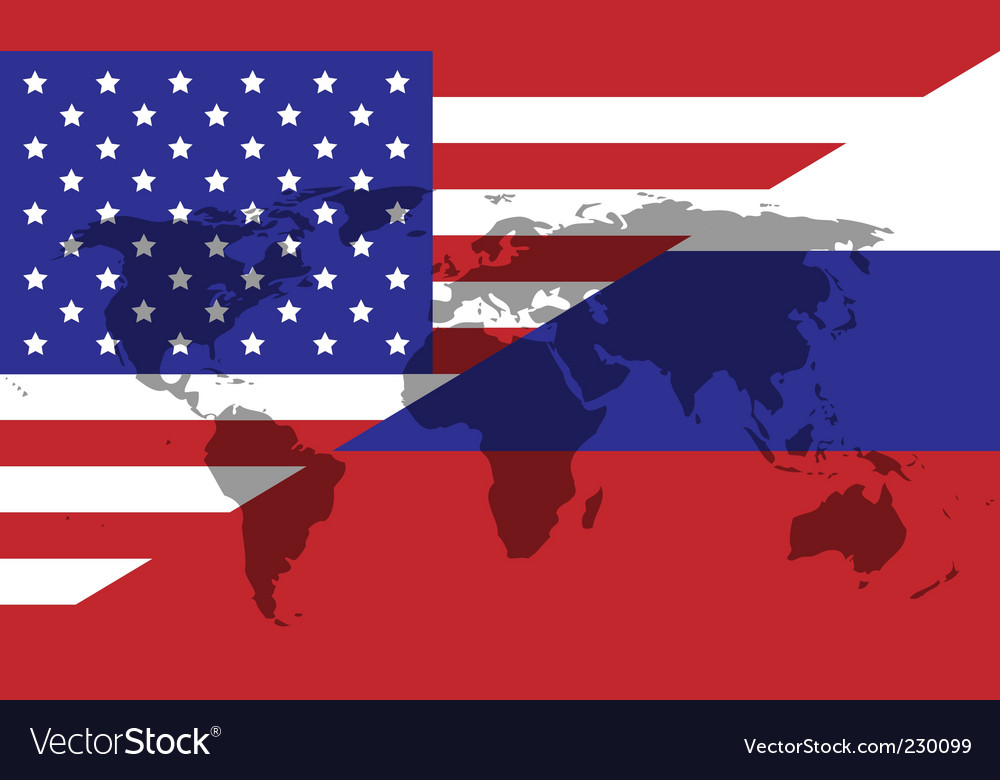 Russian American division vector image