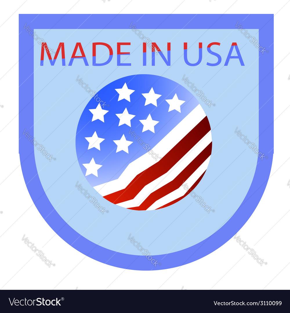 USA label vector image
