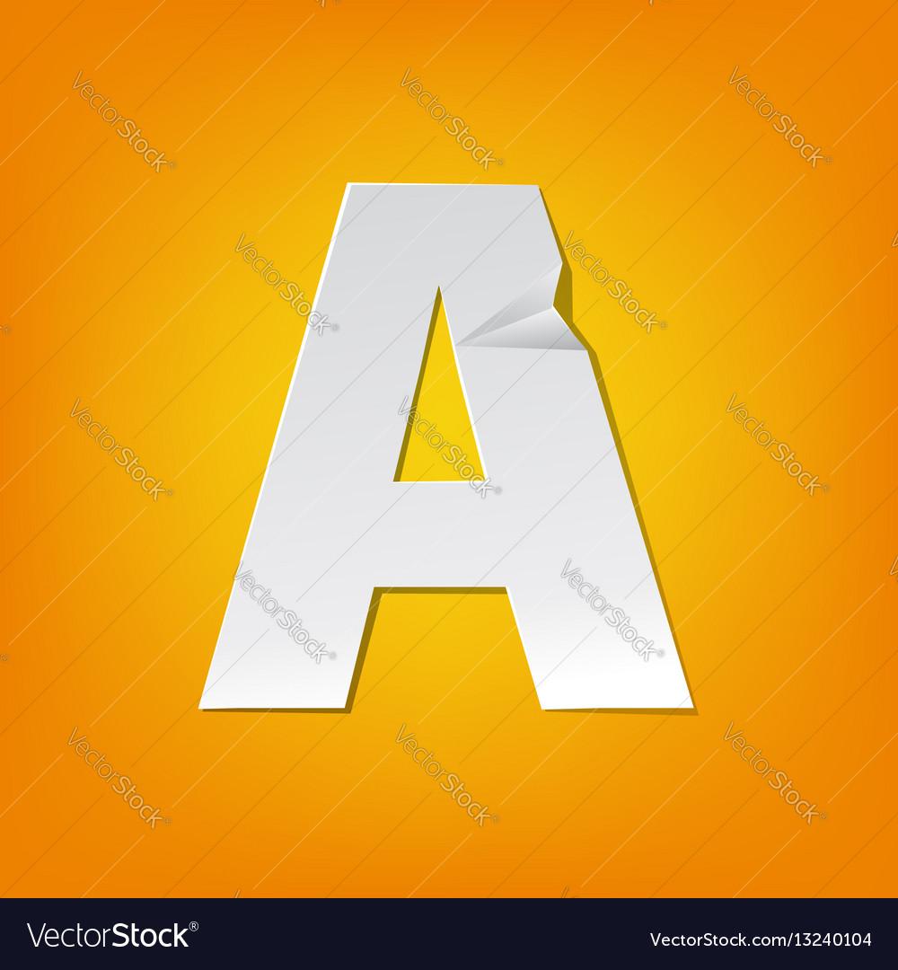 A capital letter fold english alphabet new design