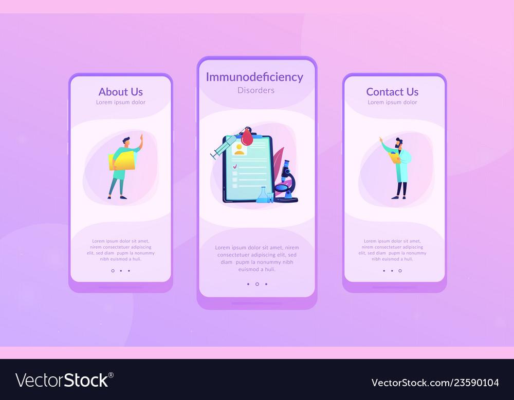 Aids app interface template