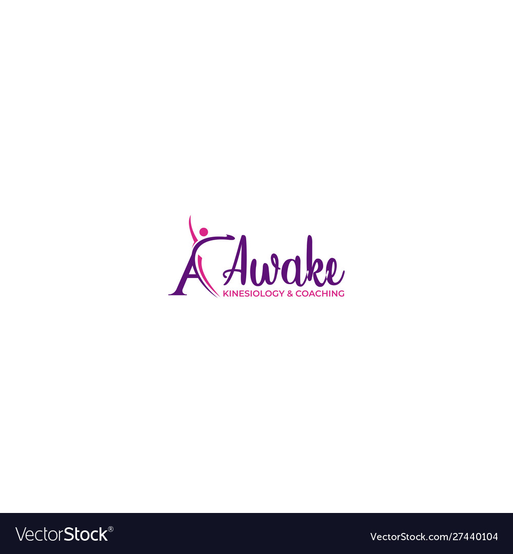 Awake kinesiology and coaching logo design