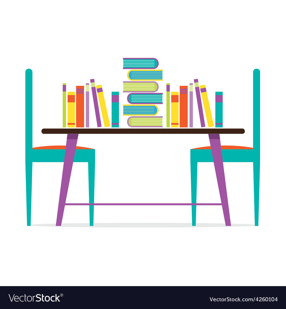 Colorful Chairs And Books On Table