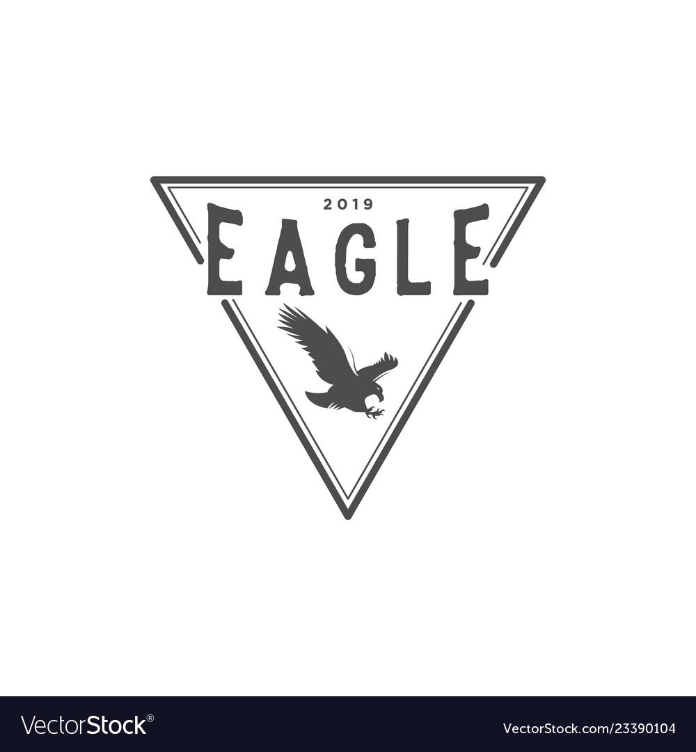 Eagle vintage logo design inspiration with
