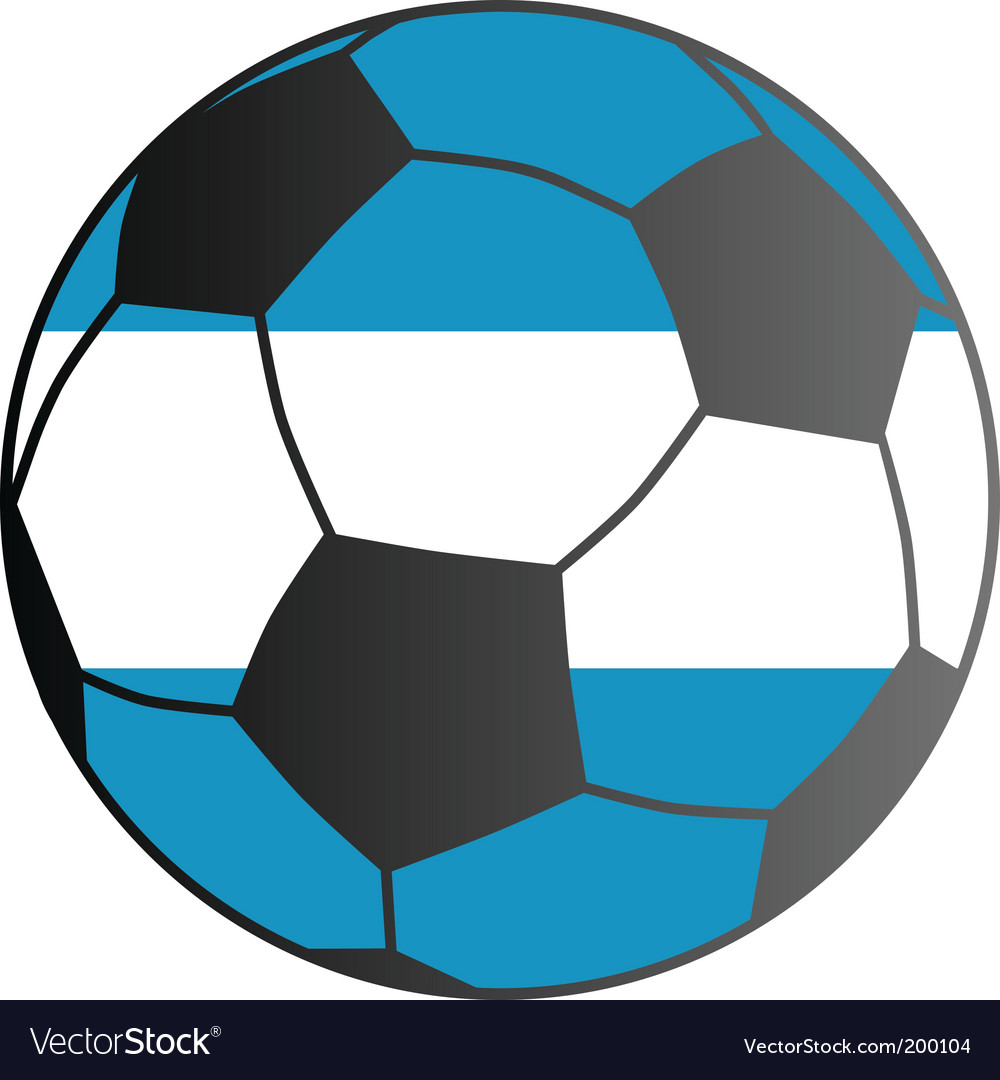 Flag of Argentina and soccer ball Royalty Free Vector Image 04f6cc2d6aab