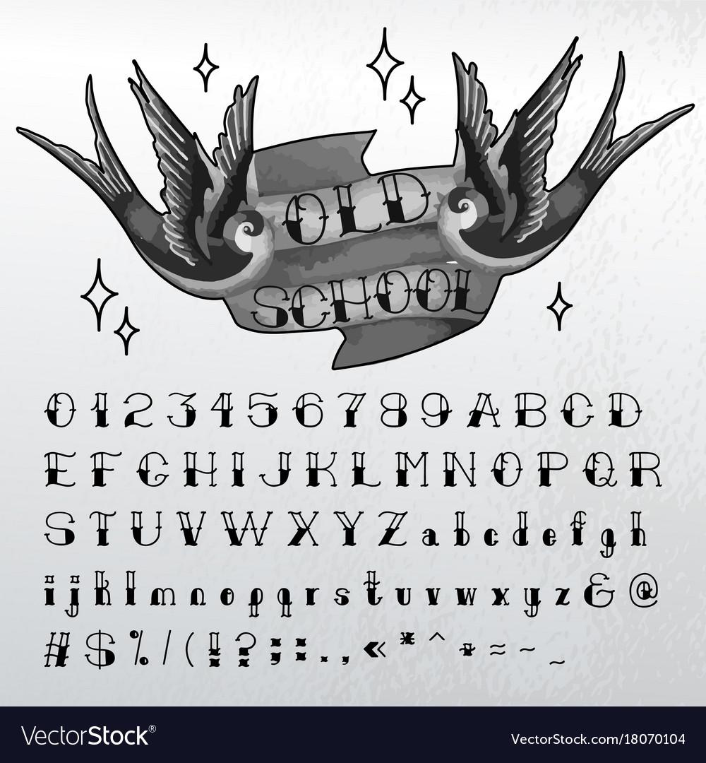 Hand written old school font