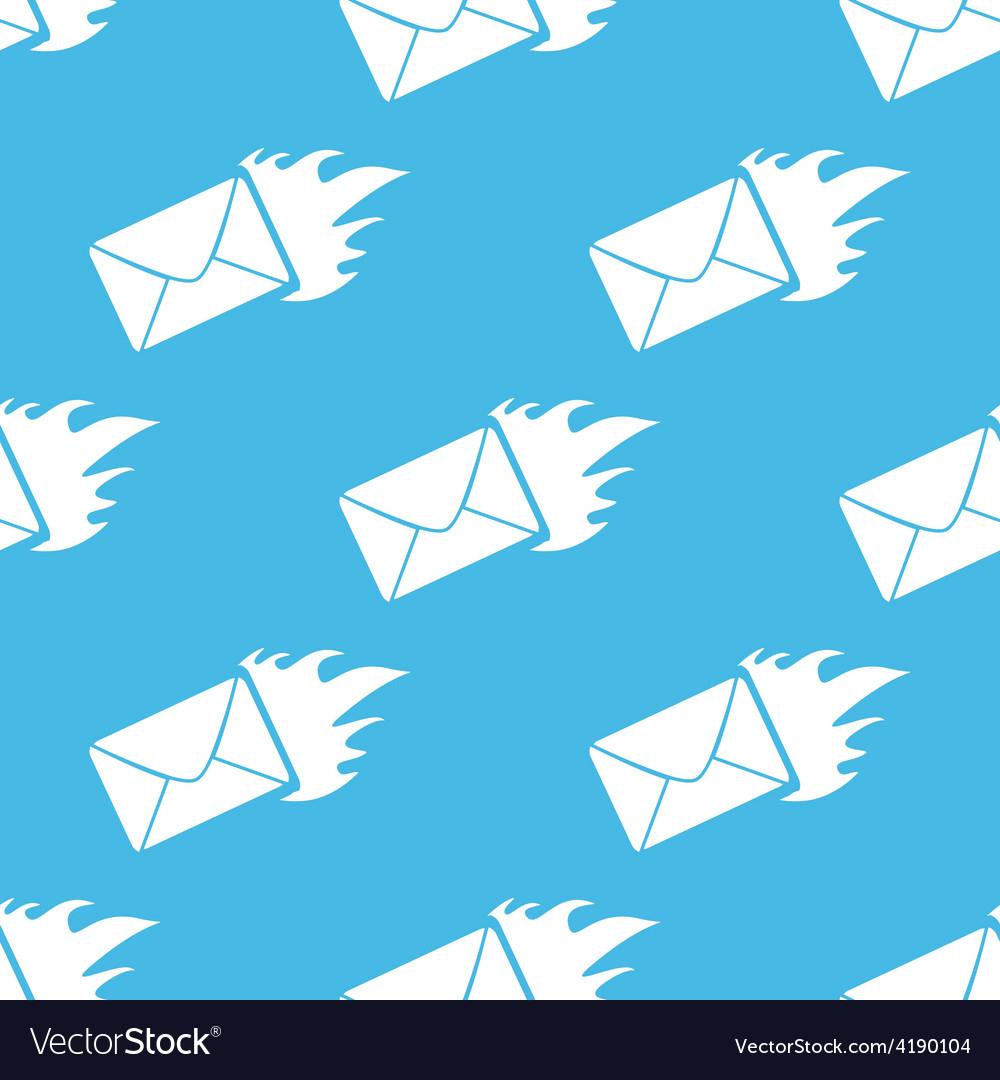 Hot letter seamless pattern