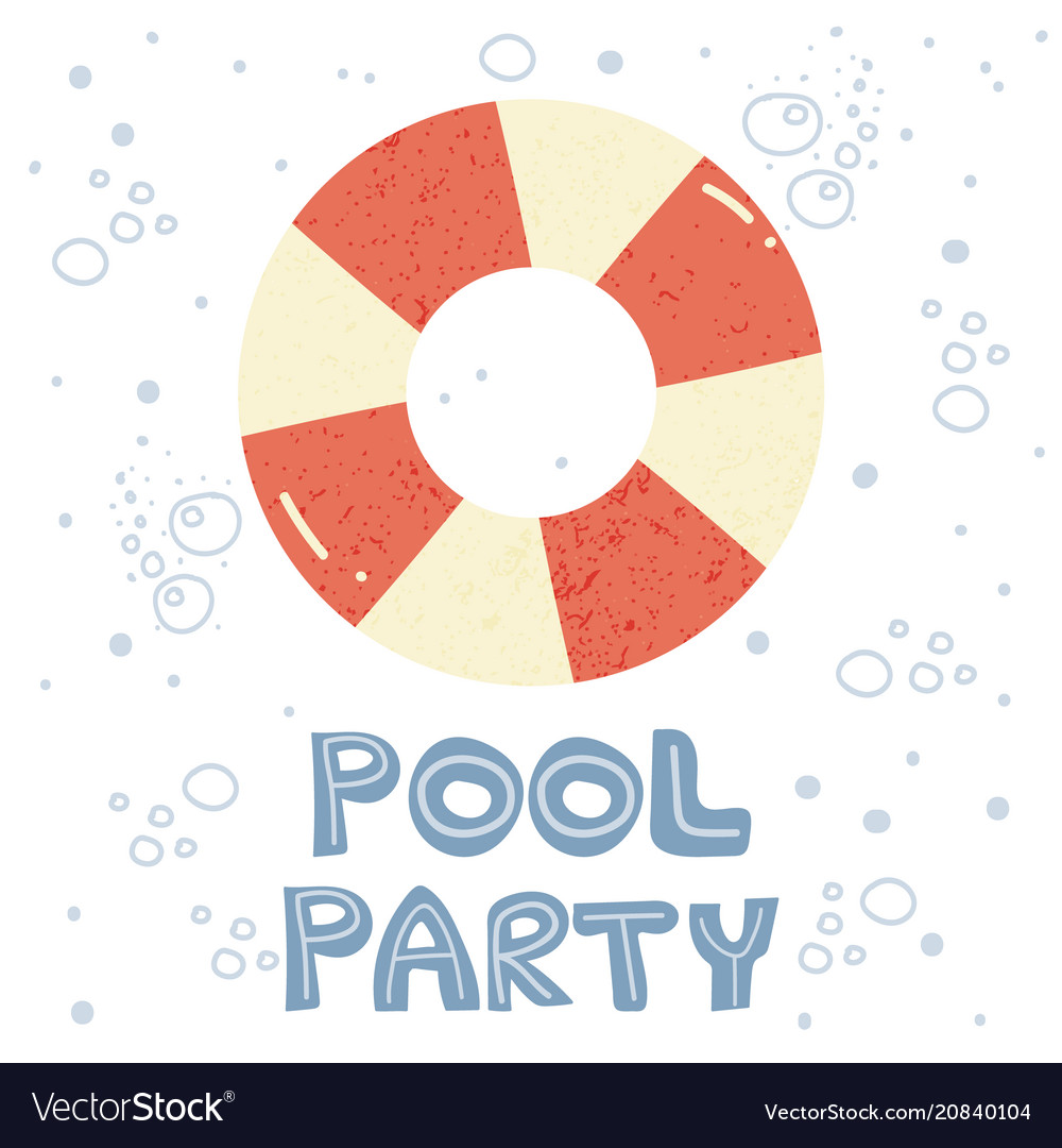 Invitation to pool party