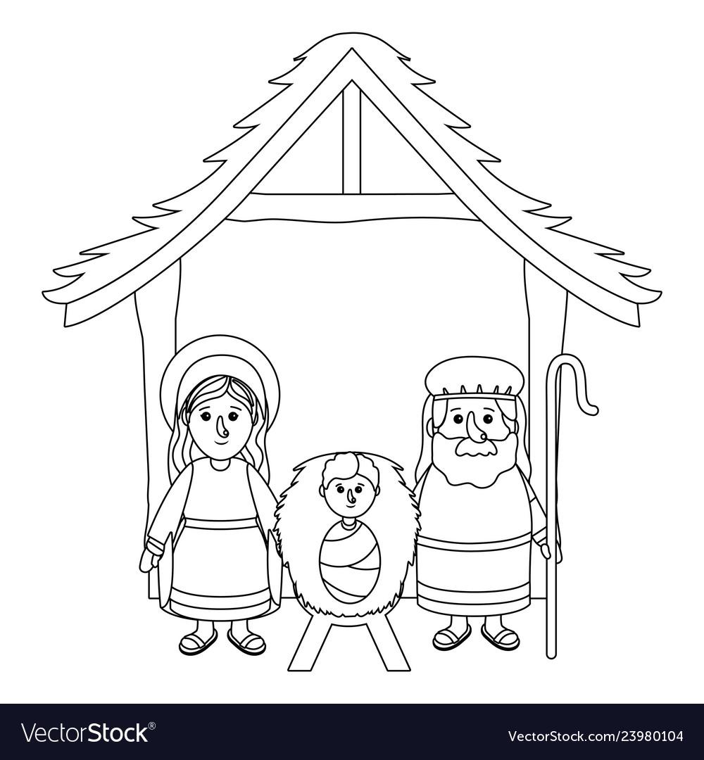 Nativity scene cartoon