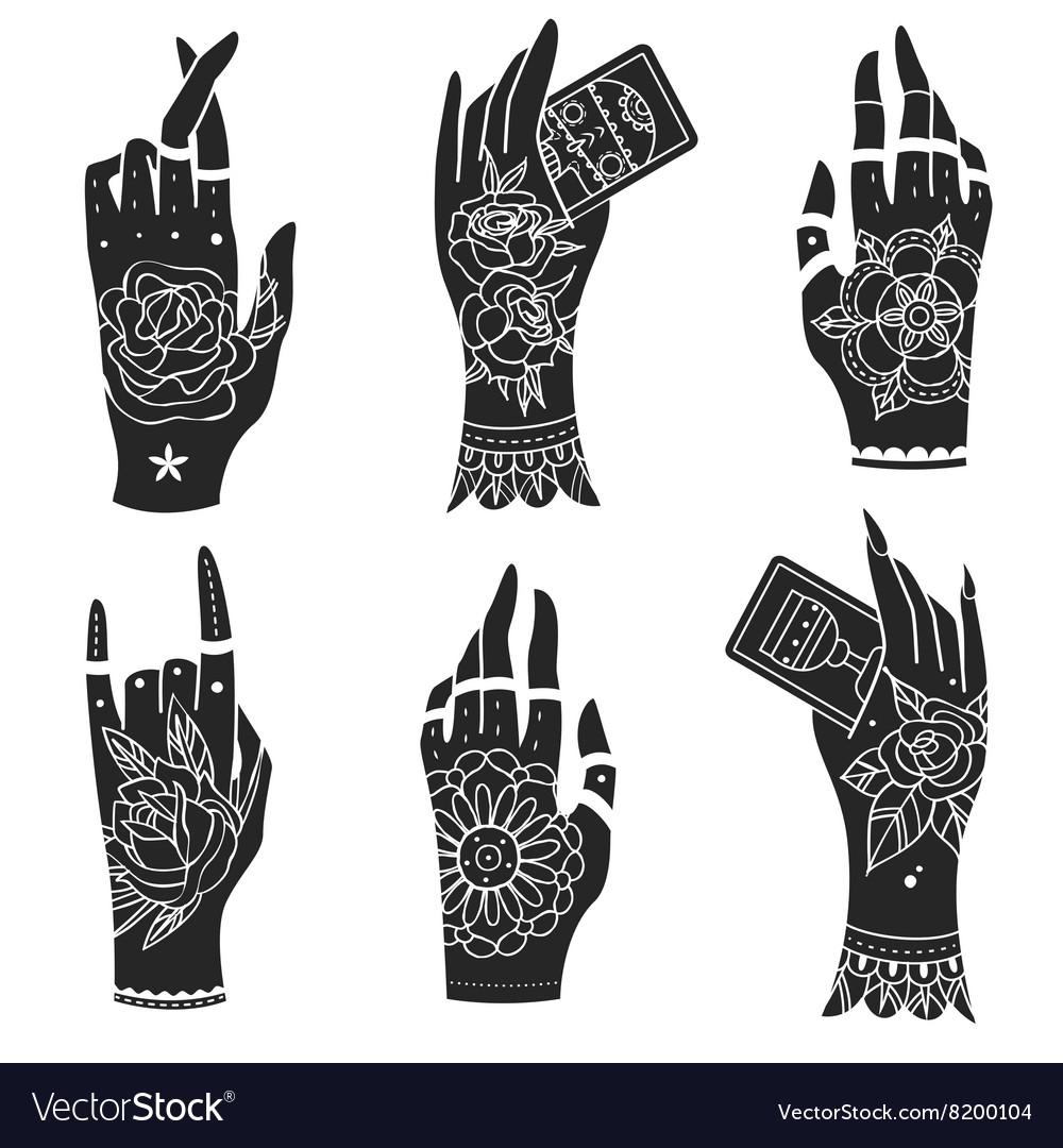 Old school tattoo hands